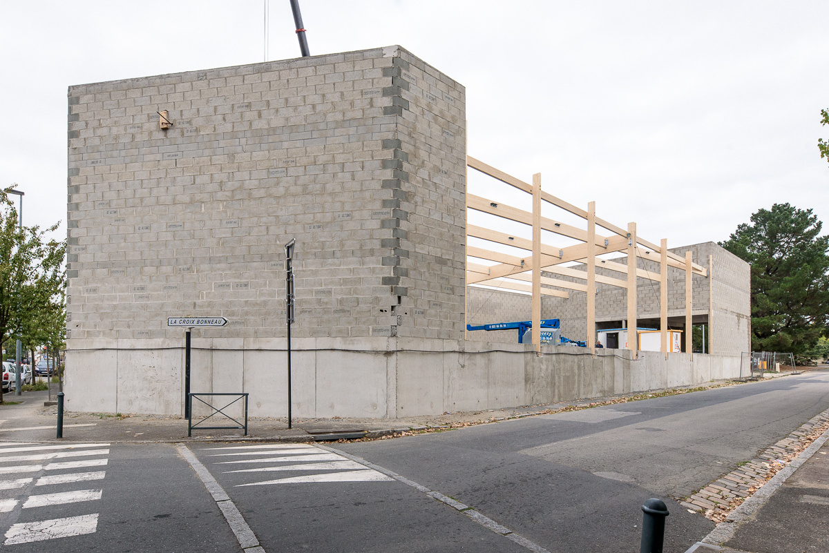 photo suivi de chantier du Netto les Hauts de Chantenay à Nantes